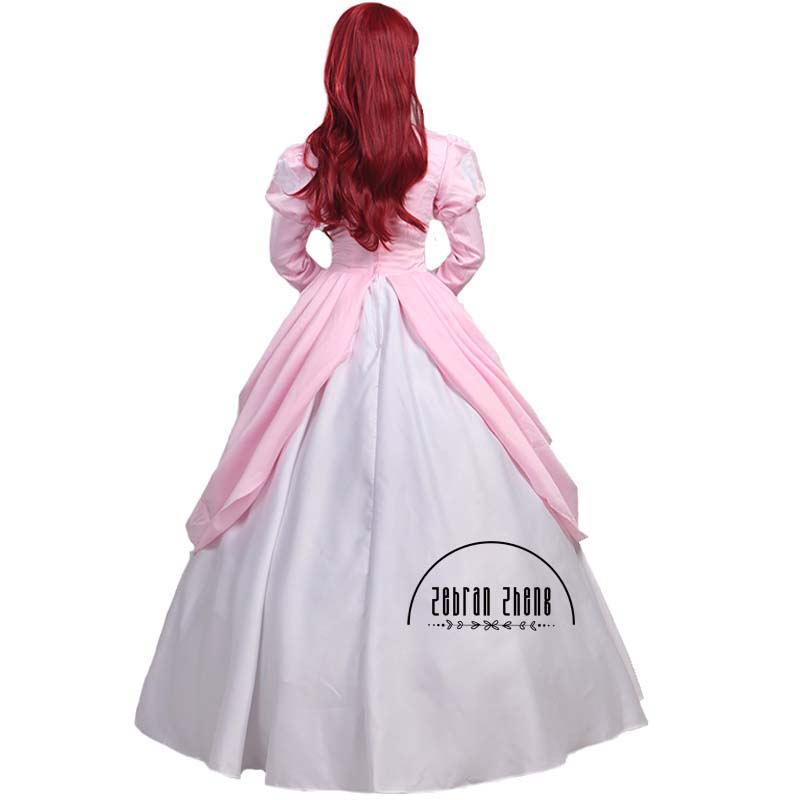 The Little Mermaid Princess Ariel Pink Dress Cosplay Kostum Untuk - Kostum karnival - Foto 2