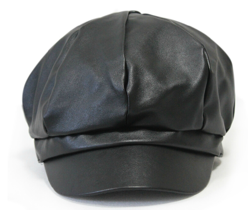 2015 fashion Newsboy cap autumn and winter thermal painter cap male women s  outdoor hats PU gorras planas octagonal hat boina-in Holidays Costumes from  ... 8c061ddd24b8