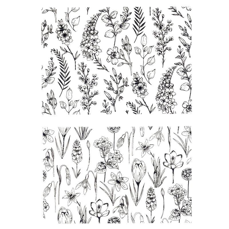 Новости цветок Кампанула Орхидея Альбом DIY фото карты счет резиновый штамп прозрачный штамп ручной работы карты штамп