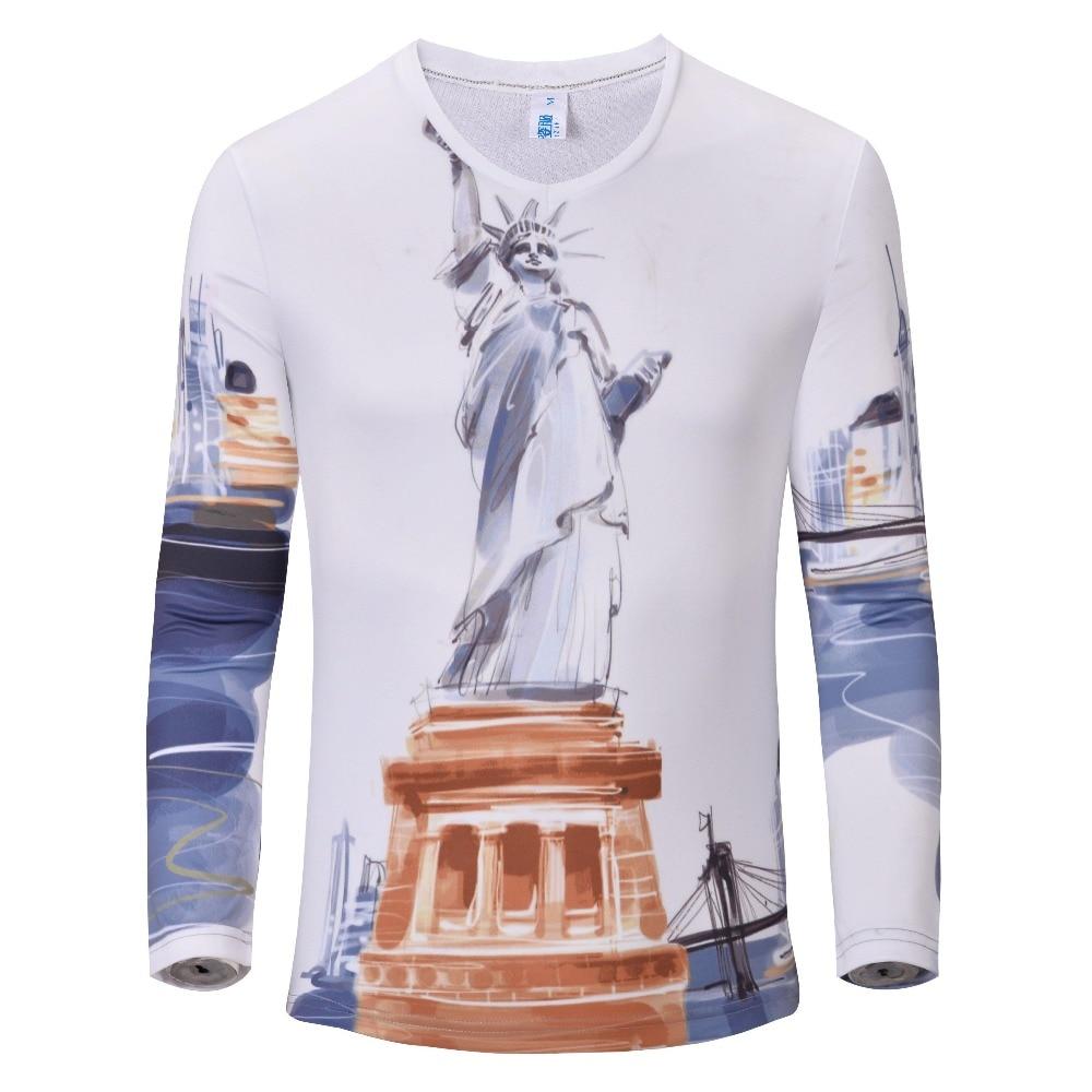 T shirt design quad cities - Hot Sale Men S Casual Shirt Fashion Flag Automotive Architectural Printing T Shirt Men Long