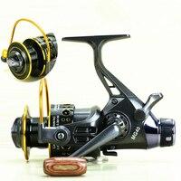 Back Dual Brake Feeder Spinning Reel Reel Bait Runner 10BB Metal Fishing Sensitive Ball Bearing Spinning Carp Reel