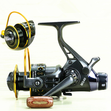 Back Dual Brake Feeder Spinning Reel Reel Bait Runner 10BB Metal Fishing Sensitive Ball Bearing Spinning Carp Reel