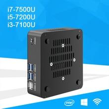 Mini PC Desktop Windows 10 Intel Core i7 7500U i5 7200U i3 7100U Intel HD Graphics 620 HDMI VGA 4K WiFi Small Computer NUC