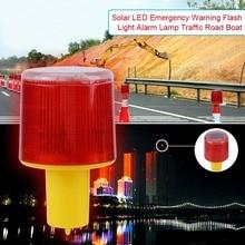 1 шт. 2,5 Вт 3 в Солнечный светодиодный аварийный предупреждающий мерцающий свет сигнальная лампа транзитная дорога лодка красный свет
