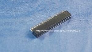 Image 1 - 500pcs 2x20 P 40 pin 1.27mm Pitch Pin Header Female dual row straight through hole DIP Rohs Lead free
