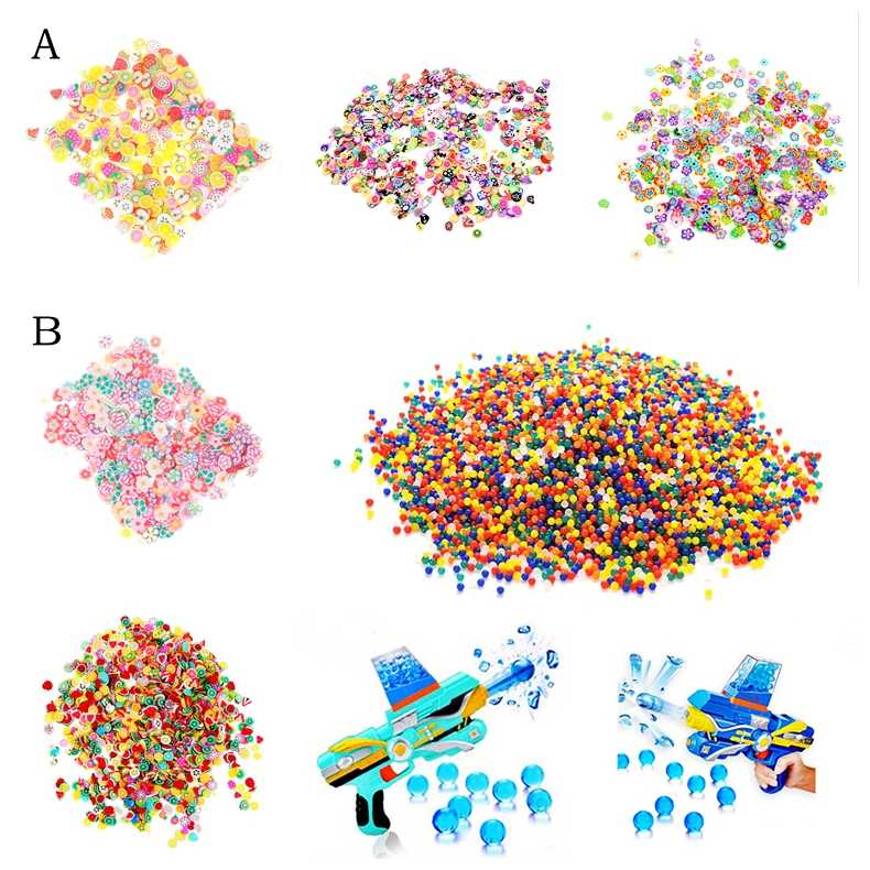 10/500/1000pcs DIY Slime Slime Addition Soft Fimo Fruit Slices for Charms Beads DIY Nail Mobile Beauty Powder in Slime Sprinkles