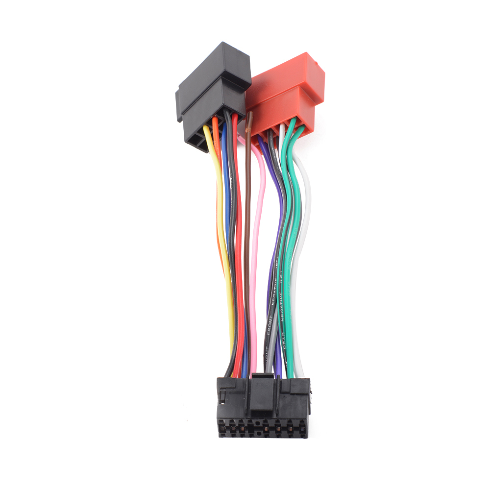 16 pin iso wiring harness connector adaptor loom for sony car stereo sony cdx wiring diagram sony cdx 4250  [ 1000 x 1000 Pixel ]
