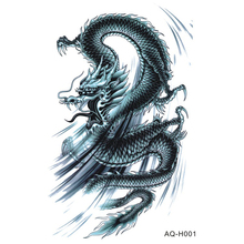 Large Body Art Arm Sleeves Temporary Tattoo Sticker Cool Dragon Arm Art Tattoo Male Half Totem Fake Tatoo For Men BH-001