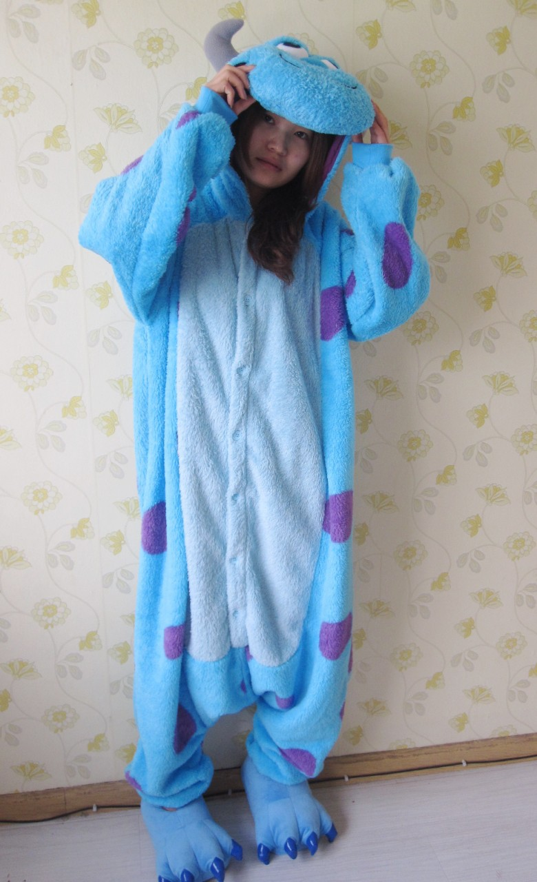 Anime Animal Sulley Inc. Cos Pajamas Adult Onesie Winter Warm Fleece Jumpsuit Cosplay Halloween Party Costumes-in Anime Costumes from Novelty u0026 Special Use ...  sc 1 st  AliExpress.com & Anime Animal Sulley Inc. Cos Pajamas Adult Onesie Winter Warm Fleece ...