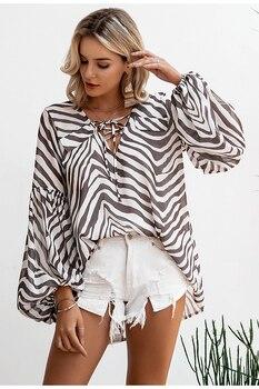 Bohemian Style Zebra Stripe Blouse