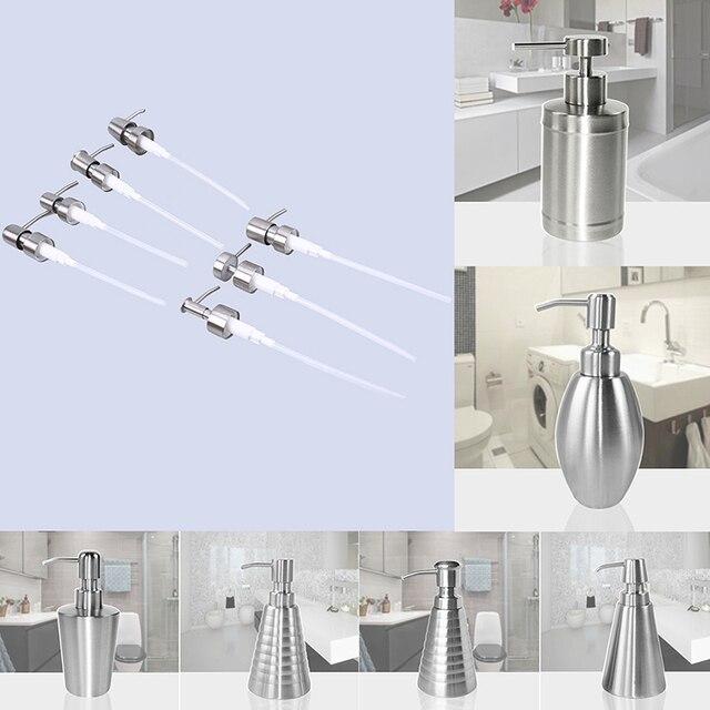 WHISM Stainless Steel Kitchen Soap Dispenser Pump Bathroom Liquid Soap Dispenser for Detergent Lotion Shampoo Bottle Replacement 2