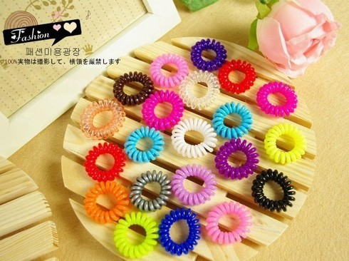 Large telephone cord headband ultra telephone cord elastic headband tousheng hair accessory