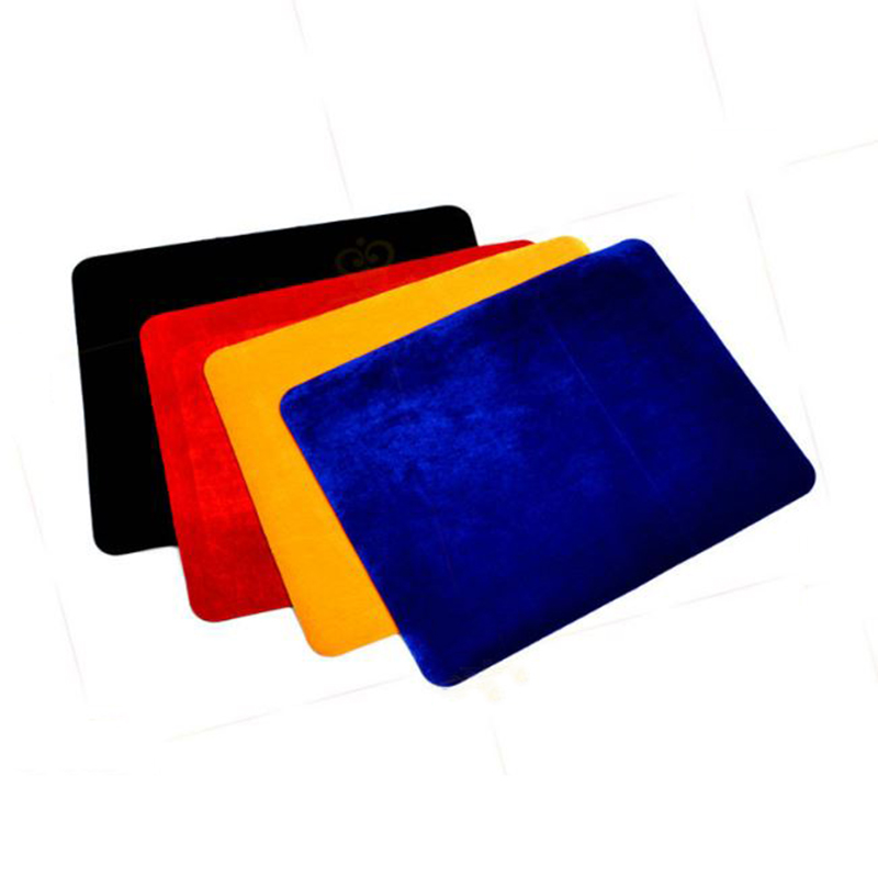 1 Pc New Professional Card Mat Black Red Blue Yellow Pad For Poker & Coin Magic Tricks Magic Props Standard Size