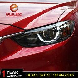 Car Styling for Mazda Atenza Mazda6 Headlights Mazda 6 M6 2013-2016 LED Headlight DRL Lens Double Beam HID Xenon Car Accessories