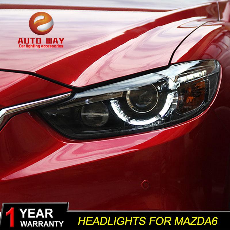 Styling de voiture pour Mazda Atenza Mazda6 Phares Mazda 6 M6 2013-2016 LED Phare DRL Lentille Double Faisceau HID xénon De Voiture Accessoires