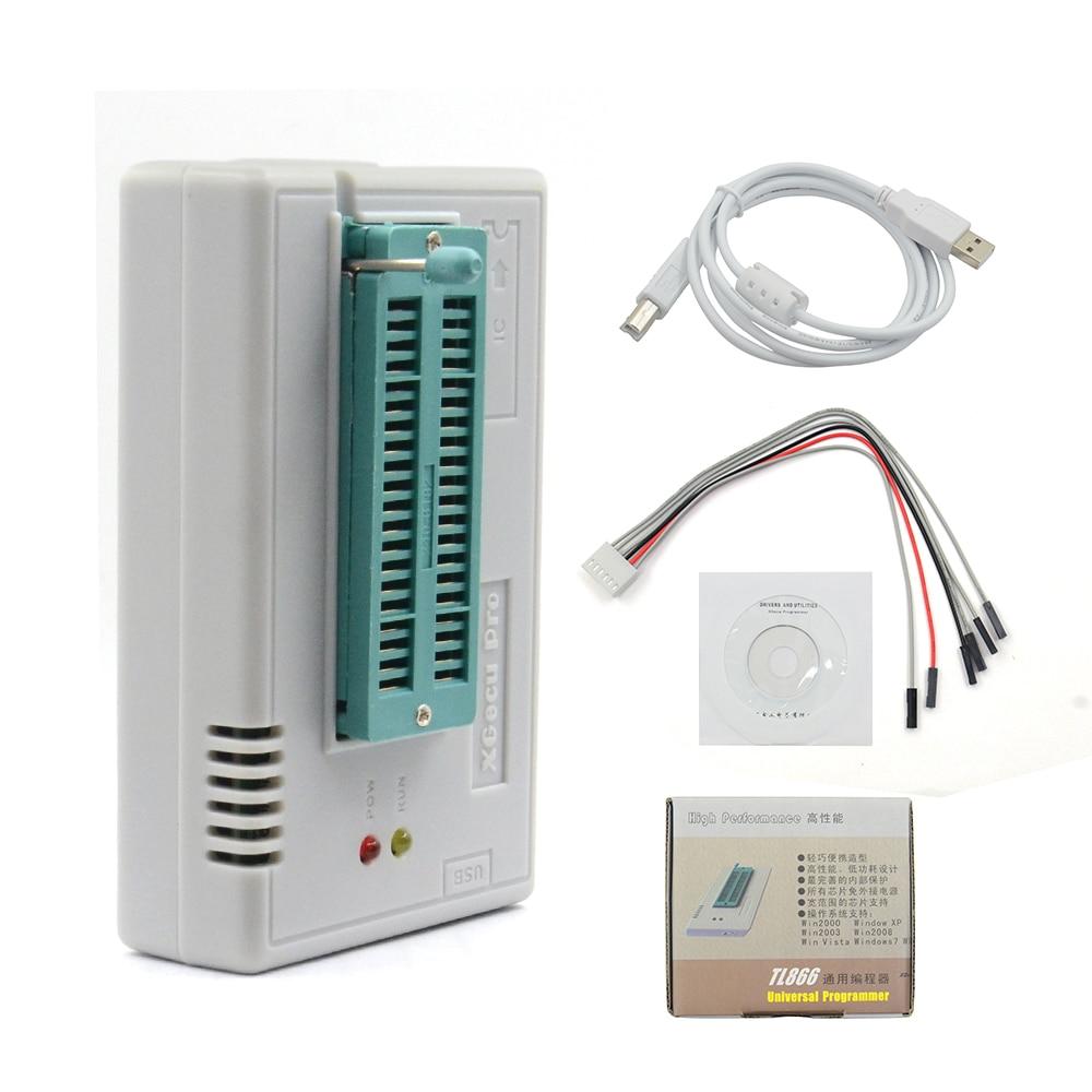 Programmateur universel USB pour EEPROM FLASH 8051 AVR MCU GAL TL866II Plus Programmateur USB avec adaptateur 10 grande capacit/é