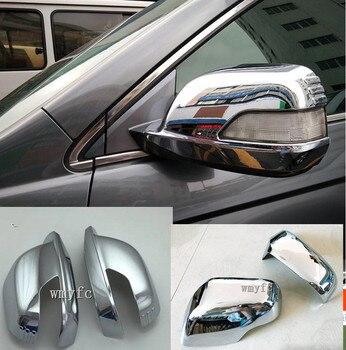 ABS Хромированная дверная боковая крышка зеркала заднего вида отделка наклейка аксессуар для автомобиля Стайлинг модель для Honda CR-V CRV 2007 2008 ...