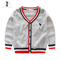 Boys Famous Brand Autumn Fall Winter for 3-6 Years Old Solid Cardigan Sweater Roupas Infantis Menino Clothes 2473