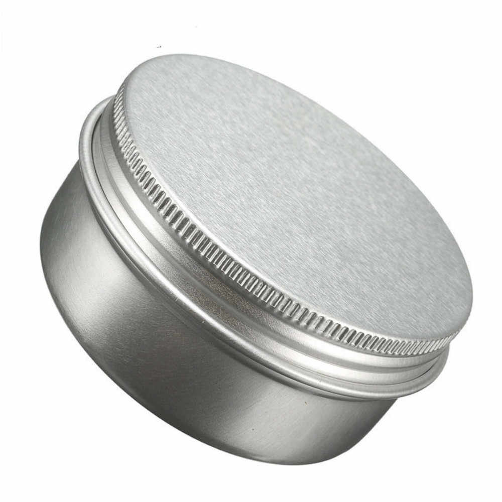 15ml/50ml/100ml/150ml Empty Aluminium Jar Tin Pot Nail Art Makeup Lip Gloss Liquid Cream Cosmetic Container Screw Thread Tin Jar