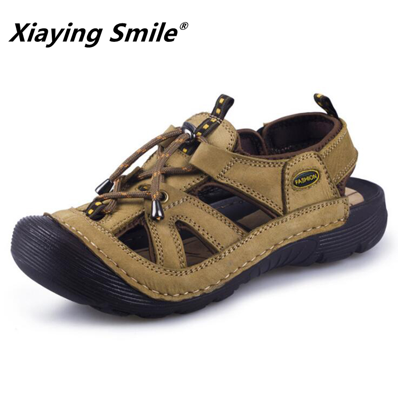 Босоніжки Чоловіча Шкіра Якість - Чоловіче взуття