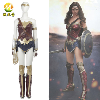 Wonder Woman Costume Batman v Superman Dawn of Justice Diana Princess Cosplay Dress Halloween Sexy Costume for Women Custom Made the touhou project yukari yakumo cosplay costume halloween luxury party dress custom made