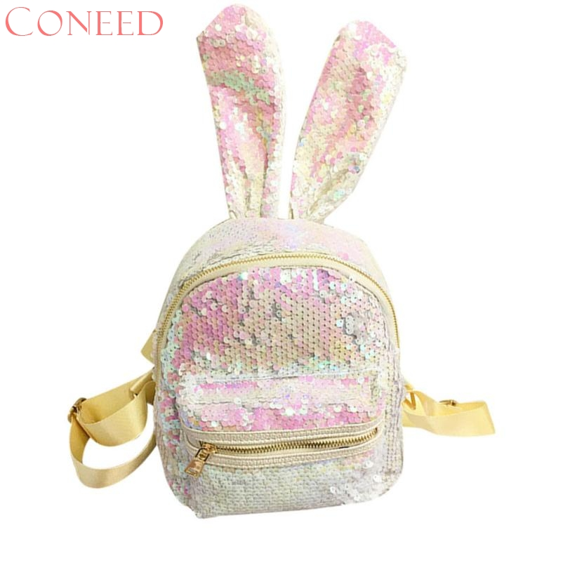 Girls Sequins Backpack CONEED Fashion Women Leisure School Bag Travel Pack Backpacks Jn14