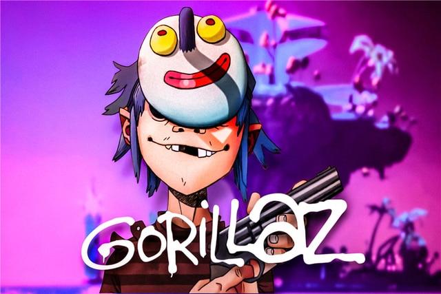 Custom Canvas Art Gorillaz Poster Gorillaz Music Band Wall Stickers