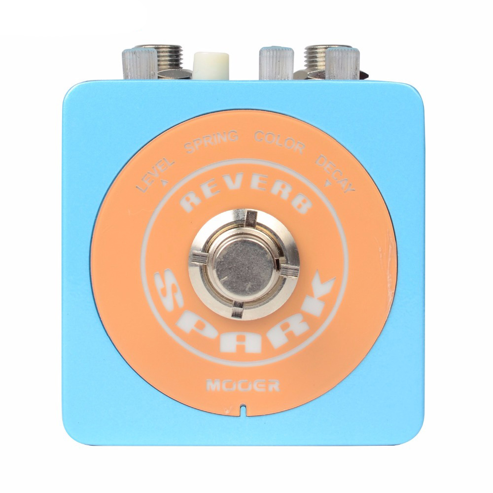 Mooer Spark Series True Bypass Design 2 Great Sounding Reverb Modes Guitar Effect Pedal mooer ensemble queen bass chorus effect pedal mini guitar effects true bypass with free connector and footswitch topper