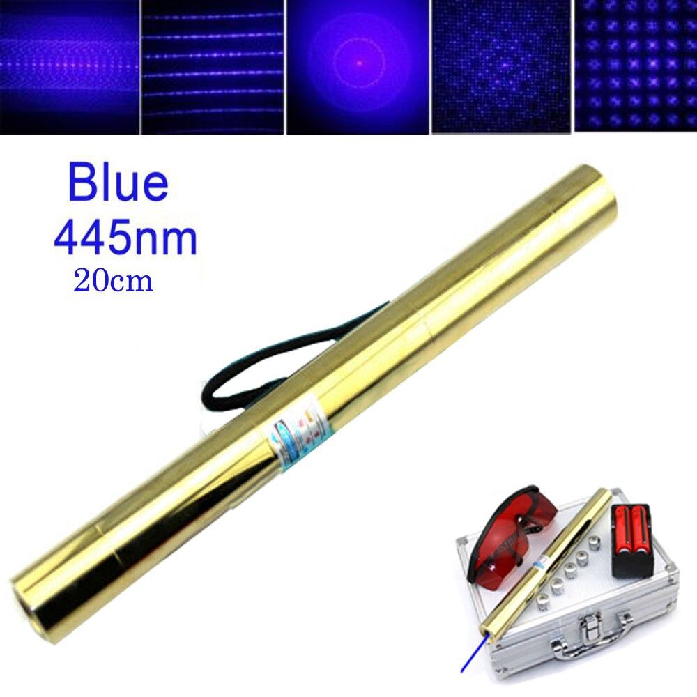 Haute puissance tout cuivre Pointeur Laser Bleu Plus Puissant 450nm 5000 m Focalisable Laser vue brûler match chandelles pétards