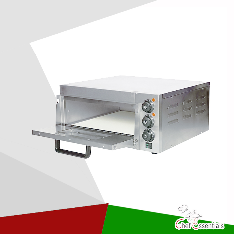 PFKS-PC01A Stainless steel pizza oven with stone and lighting Electric timing 350degree waterproof power switch pizza equipment pfml nb400 stainless steel high temperature deck baking pizza oven machine for pizza shop
