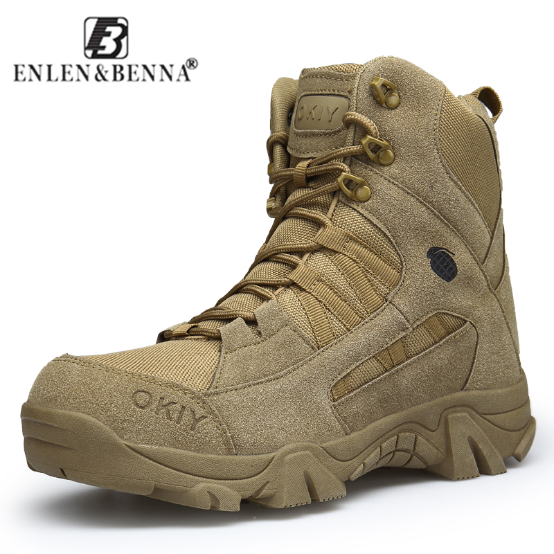 2018 Winter Fashion Military Boots Men's Comfortable Ankle Boots Men Work Shoes Army Desert Combat Boots Men Snow Footwear 2018 fashion combat boots men winter footwear martin military desert boots men s ankle boots snow shoe work plus size