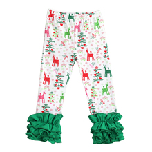 купить Girls Leggings Pants Print Icing Ruffle Cotton Leggings Cute Baby Toddler Kids Long Pants Trousers Causal Slim Leggings Girls по цене 612.23 рублей