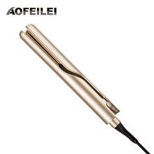 Профессиональный электрический выпрямитель и щипцы для завивки волос 2 в 1 выпрямитель для волос плоские утюги керамические инструменты для укладки