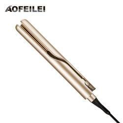 Профессиональный электрический выпрямление железа и Плойка для завивки волос 2 в 1 выпрямитель для волос плоский керамический утюжок