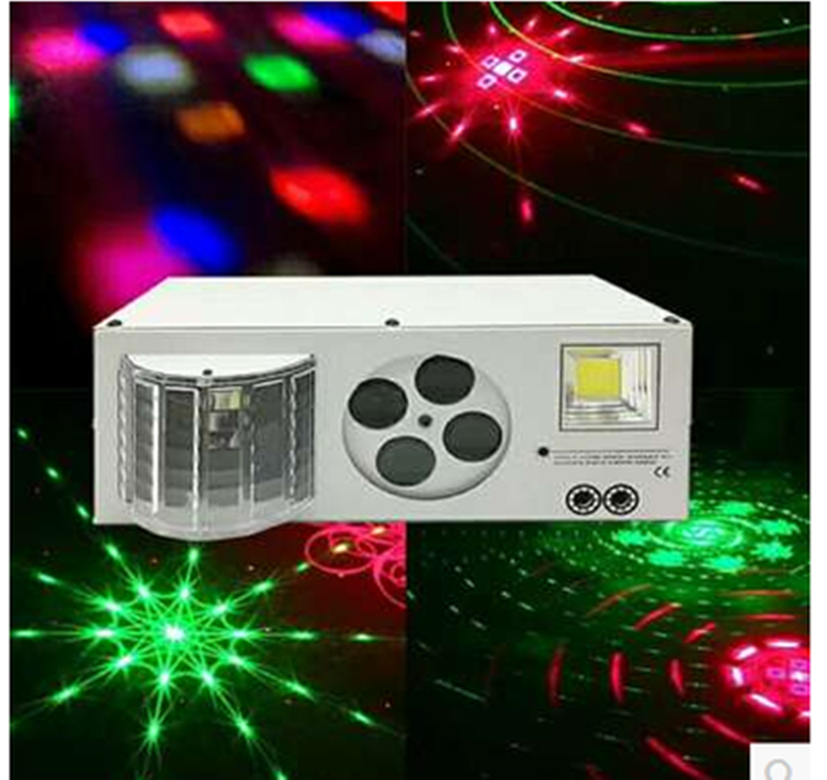 LED Projector Laser Disco Light Mini Auto Flash RGBW  Led Sound Laser Lamp Activated For DJ Disco Party Soundlights Stage Lights