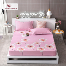 Slowdream 1PCS Mattress Cover Bed Fitted Sheet Linen Euro Sheets On Elastic Band Rubber Adult Double Single Size