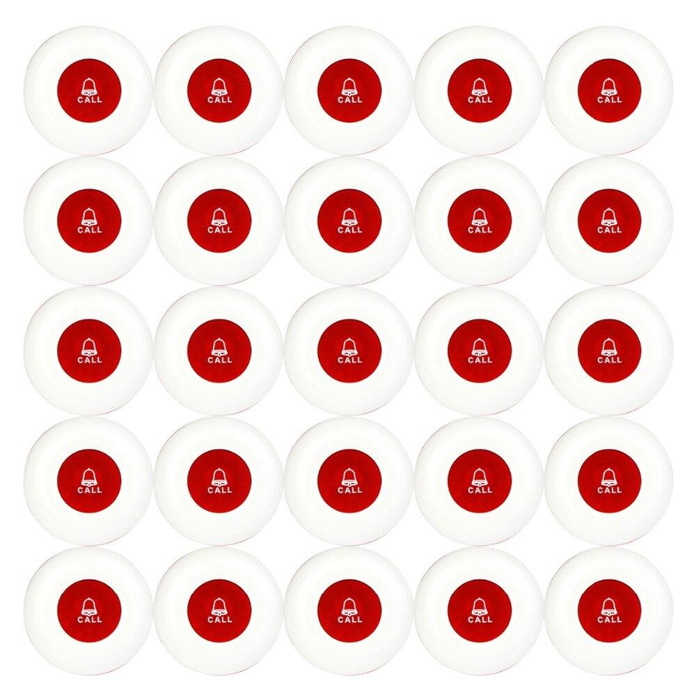 25 pièces sans fil appel transmetteur bouton bureau Club serveur appel téléavertisseur étanche 433 MHz téléavertisseur bouton Restaurants équipement F3250
