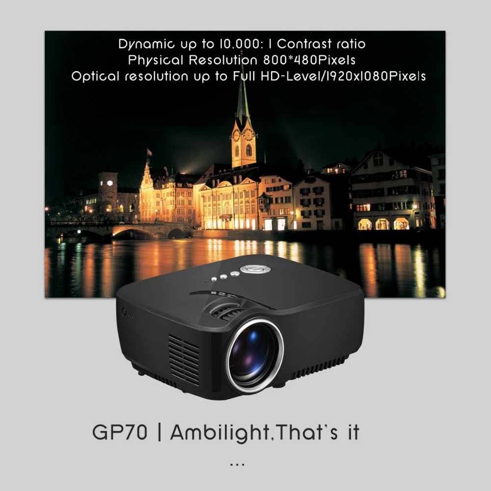 GP70 1800lumens USB VideoGame 1080P HD Home Theater LCD HDMI Mini LED Projector Proyector Beamer Projektor pk smart television