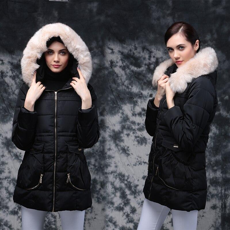 Noir Vestes 2016 Pour Coton Capuche Avec Vers Parka Poche Les Femmes Veste Manteau À D'hiver rouge Bas bleu Femme Le De b7ygf6