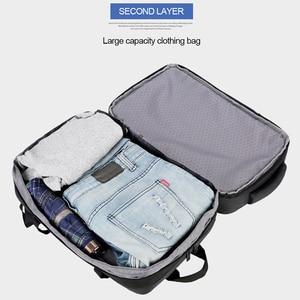 Image 4 - נגד גניבת תרמיל 17 אינץ מחשב נייד גברים Bagpack נסיעות עמיד למים קיבולת גדולה בחזרה חבילת נשים זכר שחור תרמילי USB מטען