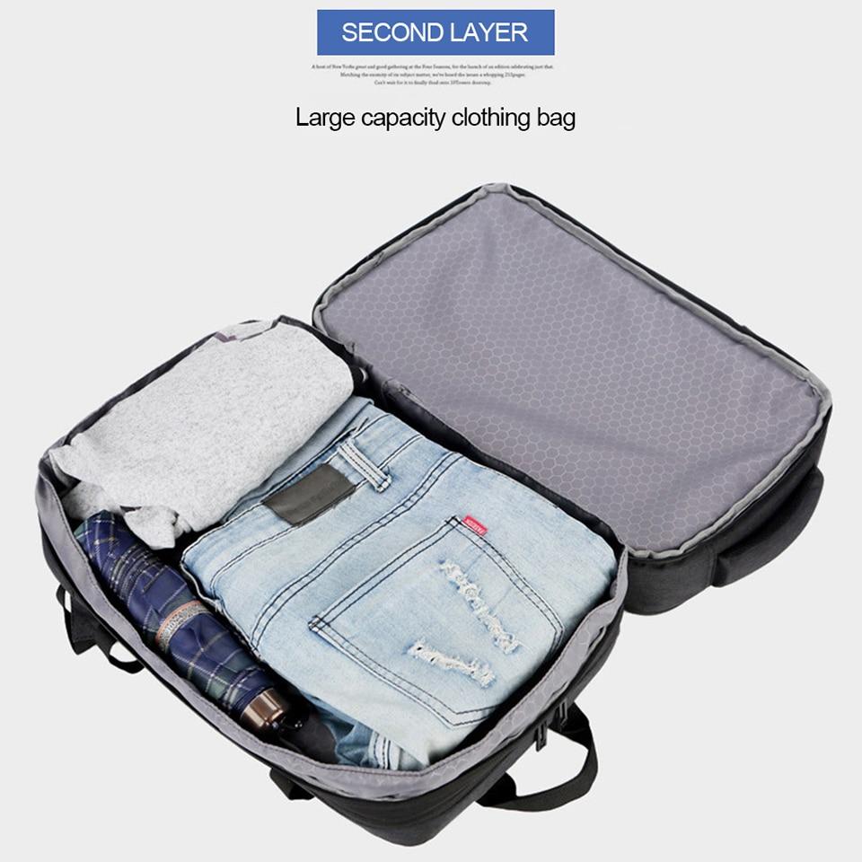 Image 4 - Anti Theft Backpack 17 Inch Laptop Men Bagpack Travel Waterproof  Large Capacity Back Pack Women Male Black Backpacks USB  ChargerBackpacks