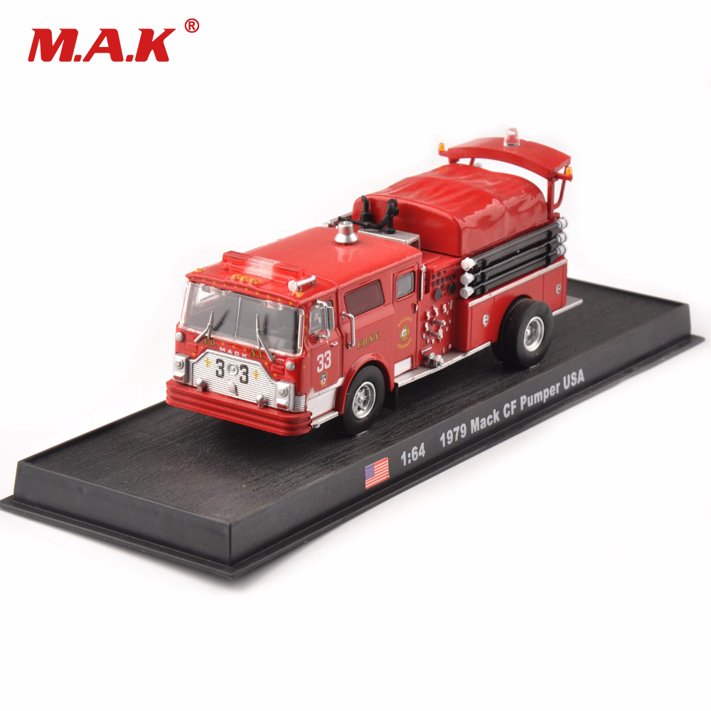 MACK Diecast Truck 1:64 Scale Cars Toy Metal Truck Model Red Container Transporter Kids Toys Collection Gift