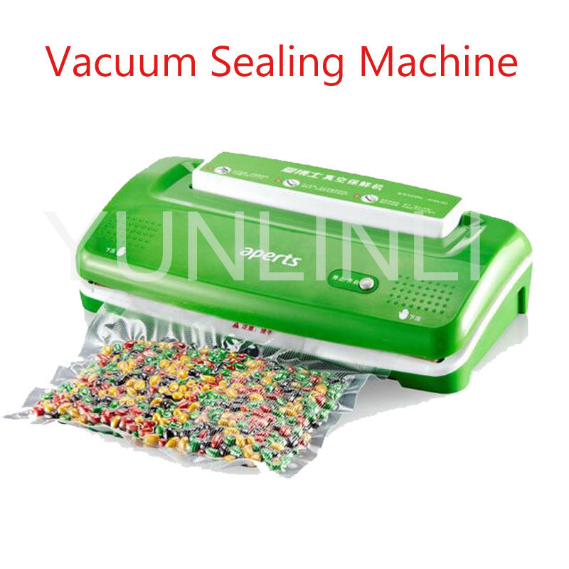 Small Full-automatic Vacuum Sealing Machine Food Packaging Machine Household Vacuum Food Sealer in green VS1000 цены