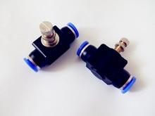 Бесплатная доставка 2 шт. Inline воздуха управление 12 мм x мм 12 мм Push In Quick Connecter2-Way ограничения потока пневматический клапан скорость управление Лер