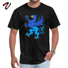 GRYPHON RAMPANT Casual Occult Urban Tops Tees Lovers Day Crew Neck All Cotton Men T-Shirt T Shirt Hot Sale