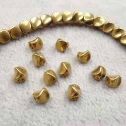 50pcs/lot Craft Irregular Loose Copper Beads 4.5mm Decoration Handmade Beading Spacer Findings DIY Jewelry Making For Women Men