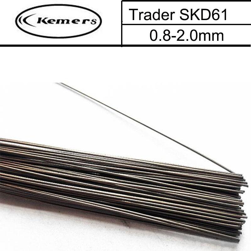 1KG/Pack Kemers Trader Mould welding wire SKD61 pairmold welding wire for Welders (0.8/1.0/1.2/2.0mm) S012028 professional welding wire feeder 24v wire feed assembly 0 8 1 0mm 03 04 detault wire feeder mig mag welding machine ssj 18