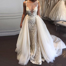 Ike Chimbandi Mermaid Wedding Dresses with Detachable Train
