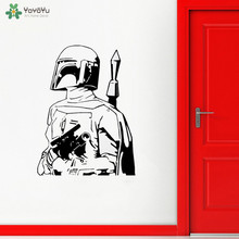 YOYOYU Wall Decal Star Wars BOBA FETT Quotes Sticker Removable For Living Room C3PO Robot Art Decoration QQ124