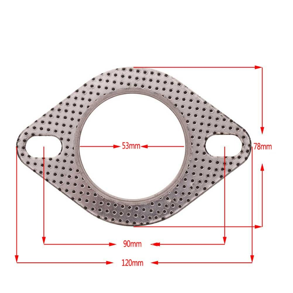 2018 Exhaust Downpipe Flange 1pcs 2 23inch Car Engine Diagram Gasket Universal Pipe With Two Holes279968 In Gaskets From
